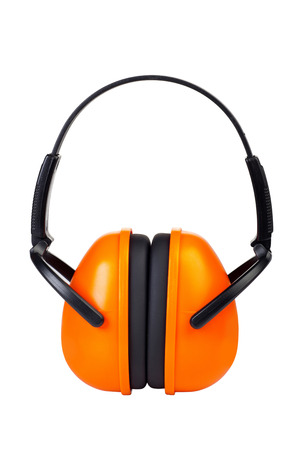hearing protection: Hearing Protection Ear Muffs isolated on White Background