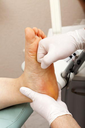 chiropodist: Professional massage at a chiropodist in his practice