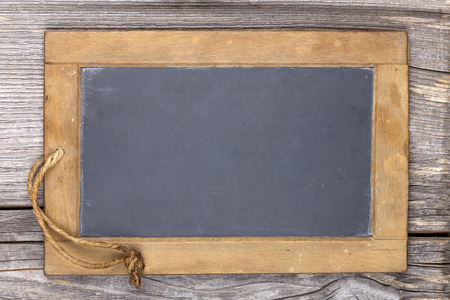 Very old slate chalkboard blank for to write on Stock Photo