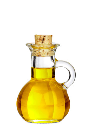 Little Bottle of Olive Oil isolated on white Background