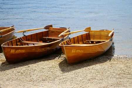 rowboats: Rowboats on the banks of Lake Titisee in the Black Forest Editorial