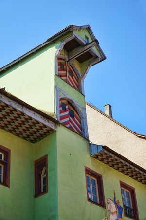 german culture: Architectural details of a very old building in the medieval town of Rottweil in BadenWrttemberg