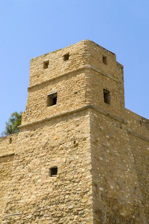 Part of the Bab El Bhar in the medina of Hammamet in Tunisia Stock fotó