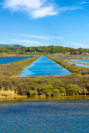 Water channels - water inlet from the Mediterranean to the saline at the small town of Gruissan in southern France