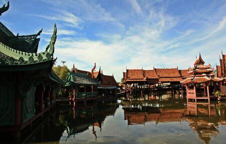 samutprakarn: Palace in Maung boran samutprakarn Thailand,