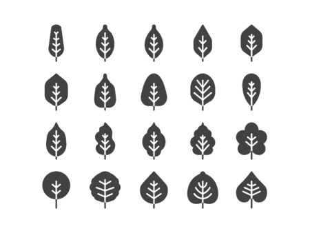 Spring Solid Glyphe line Icon Set Spring Concept Minimal Style Illustration Vector EPS 10. Illustration