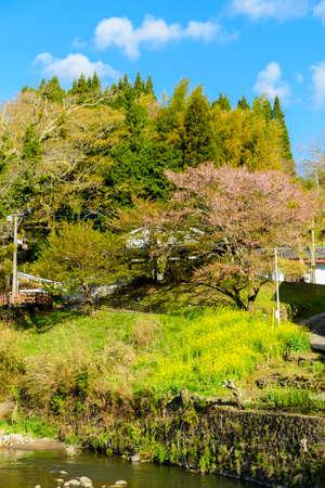 Scenery of Yu Onsen, Mayor of Takeda, Oita Prefecture
