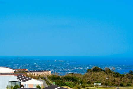 View of Kunito Peninsula from Beppu Bay Service Area