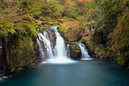 Clear streams and autumn leaves in Kikuchi Valley