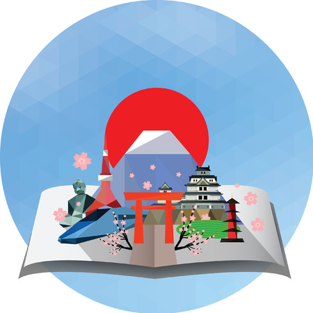pop up: Pop up card of Japan