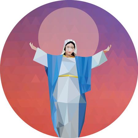 saint mary: illustrator of Saint Mary or Virgin Mary