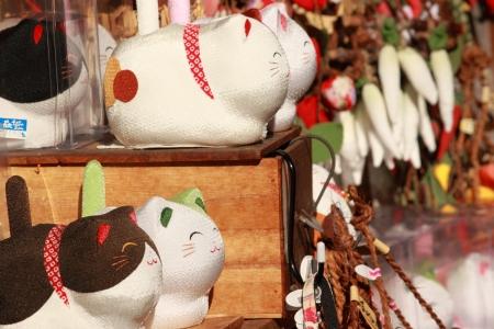 gokayama: Gokayama Japan - November 04, 2012,Colourful local craft display at souvenir shop in Gokayama Toyama Japan