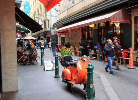 Melbourne Australia- August 03,2013, Locals and tourists enjoying dining in famous dining area Degraves Street Melbourne Australia