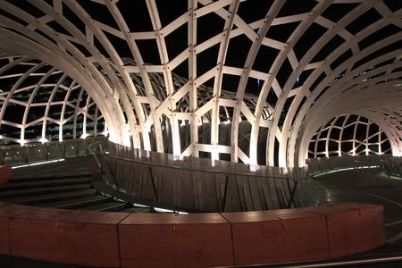 Webb bridge light up in Docklands Melbourne Australia photo