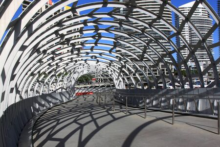 Melbourne Australia- August 10,2013, Artistic design Webb bridge in Docklands Melbourne Australia