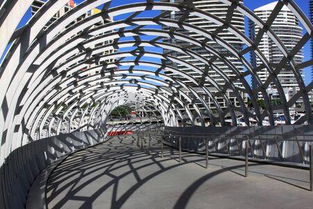 webb: Melbourne Australia- August 10,2013, Artistic design Webb bridge in Docklands Melbourne Australia