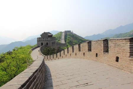 Great Wall of China outside of Beijing China photo