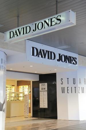 jones: MELBOURNE AUSTRALIA - March 1,2014  David Jones on Burke Street Melbourne - David Jones is a high-end Australian department store chain  Editorial