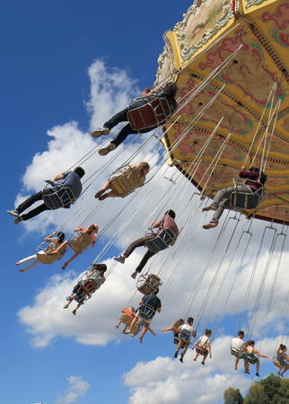 MELBOURNE AUSTRALIA - March 8,2014  People enjoy attractions at Moomba Festival running for 60 years