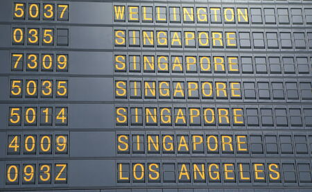 Airport departure board photo