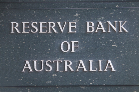 monetary policy: MELBOURNE AUSTRALIA - APRIL 26, 2014 Reserve Bank of Australia Reserve bank of Australian, known as RBA conducts monetary policy, works to maintain a strong financial system in Australia