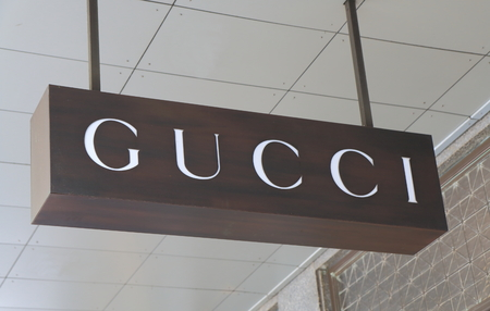 MELBOURNE AUSTRALIA - APRIL 26, 2014 GUCCI store on Collins Street