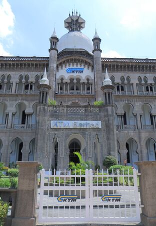 Kuala Lumpur Malaysia - 24 May, 2014  Historical and beautiful architecture of KTM Berhad building in Kuala Lumpur Malaysia