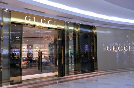 gucci shop: Kuala Lumpur Malaysia - 25 May, 2014 GUCCI shop at SURIA KLCC in Kuala Lumpur Malaysia