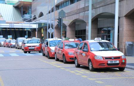 Kuala Lumpur Malaysia - 25 May, 2014 Taxies wait for passengers at KL Sentral station in Kuala Lumpur Malaysia   Editorial