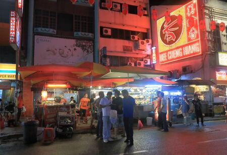 Kuala Lumpur MalaysiaA - 29 May, 2014  Local people buy takeaway meal in China Town in Kuala Lumpur Malaysia