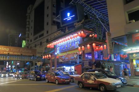 Kuala Lumpur Malaysia - 30 May, 2014 China Town Kuala Lumpur by night in Kuala Lumpur Malaysia