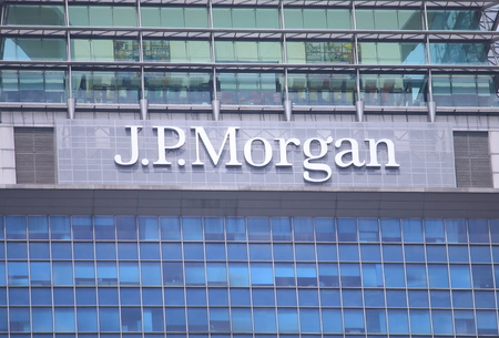 Singapore, Singapore - 27 May, 2014  JP Morgan, the largest bank in the USA