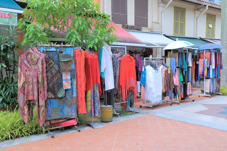 local 27: Singapore, Singapore - 27 May, 2014  Local clothes shop sells traditional Arabic clothes in historical Arab Street Bugis Singapore
