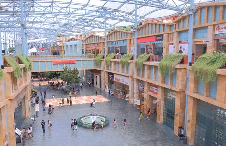 sightsee: Singapore, Singapore - 28 May, 2014  Visitors sightsee famous Resorts World Sentosa in Sentosa island Singapore