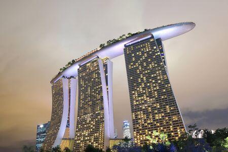 Singapore, Singapore - 28 May, 2014  Contemporary architecture of Marina Bay Sands in Marina Bay Singapore