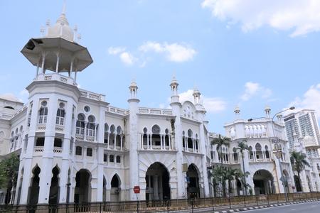 쿠알라 룸푸르 오래 된 철도 역 역사적이 고 아름 다운 아키텍처 쿠알라 룸푸르 말레이시아 스톡 콘텐츠