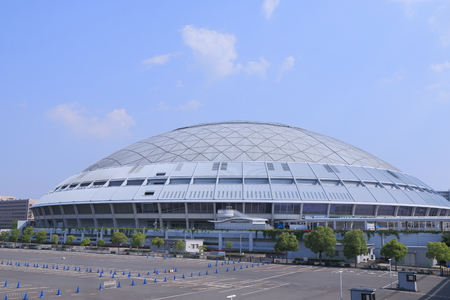 dorm: Nagoya Japan - 31 May, 2014  Modern Nagoya Dorm baseball stadium in Nagoya Japan   Editorial