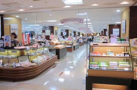 Kanazawa Japan - 9 June, 2014  People shop at M�ZA Department store in Kanazawa Japan