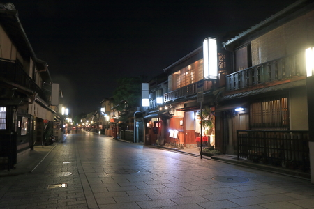 Gion Kyoto Japan by night  Stock Photo