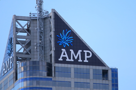 Melbourne Australia - August 23, 2014: AMP, financial services company based in Australia formed in 1849.