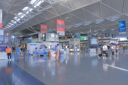 chubu: Nagoya Japan - September 27, 2014: People travel at Central Japan Centrair Airport