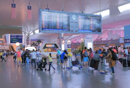 Kuala Lumpur Malaysia - September 27, 2014: People travel at KLIA2 international airport