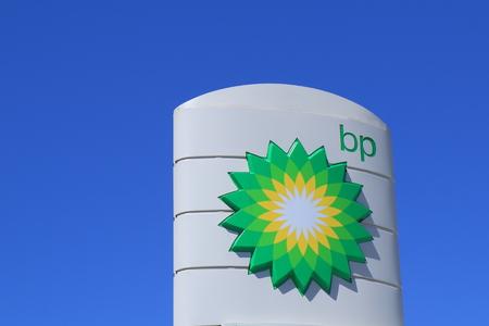 멜버른 오스트레일리아 - 2014 년 12 월 13 일 : BP, 영국의 다국적 석유 및 가스 회사.