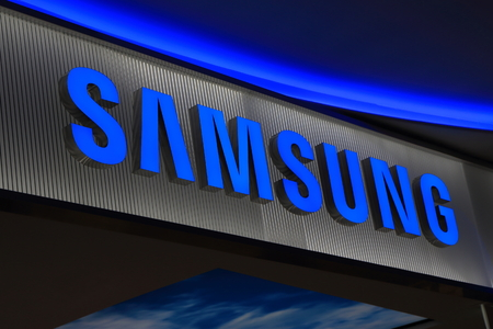 famous industries: Melbourne Australia - December 13, 2014: Samsung Korean electronics