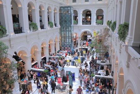 hm: Melbourne Australia - December 31, 2014: Unidentified people shop at H&M shop in Melbourne.