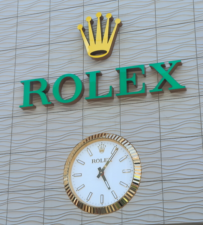 Melbourne Australia - January 23, 2015: Rolex watch manufacturer. 報道画像
