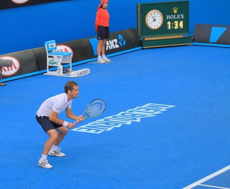 richard: Melbourne Australia - January 23, 2015: Richard Gasquet play at Australian Open. Editorial
