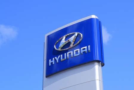famous industries: Melbourne Australia - March 1, 2015: Hyundai car manufacturer. Editorial