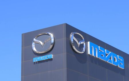 famous industries: Melbourne Australia - March 1, 2015: Mazda Motor car manufacturer Editorial