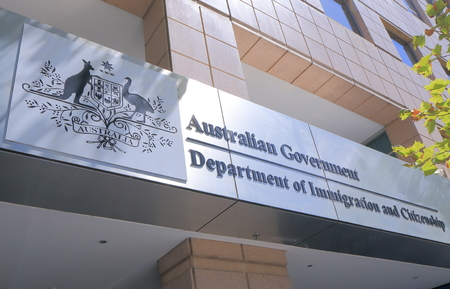 Melbourne Australia - March 1, 2015: Department of Immigration Australia